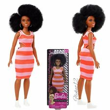 2018/2019 Barbie Fashionistas Curvy Doll African American Curly Afro Hair