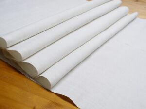 Antikes Leinen weiß handgewebt grobe Struktur 67 cm x 285 cm