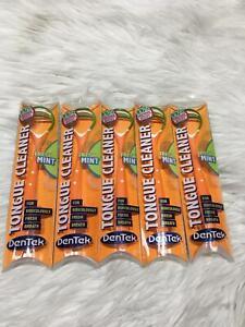 5 DenTek Tongue Cleaner Fresh Mint Orange Green Bs07