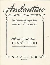 Andantino-Moonlight & Roses-Edwin Lemare-Vintage Piano Solista Partituras