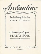 Andantino - Moonlight & Roses - Edwin Lemare - Vintage Piano Solo Sheet Music