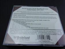 Family Tree Maker Social Security Records 1937-1993 Vol 1&2 +World Tree Vol 1 &