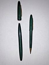 Vintage USA Pen & Mechanical Pencil Forest Green & Gold