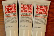 3X FORMULA 10.0.6 Three Times Sublime 3 on 1 Wash + Scrub + Mask 1 oz. New