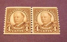 US Stamp Scott# 603 Monroe 1924  Pair 1MH,1MNH  C253