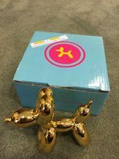 "Balloon Dog Figurine Statue Home Decor - Gold Metallic - 3"" High"