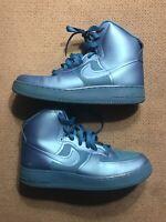 Men's 10.5 NIKE AIR FORCE 1 HI HYPER FUSE BLUE GLOW 454433-400 Shoes