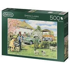 Falcon De Luxe 500pc Jigsaw Puzzle Spring Lambs