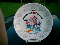 THE DISNEY COLLECTION Donald Duck's 50th Birthday1st EDITION Calendar Plate 1984