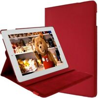 Red Case for Apple iPad 2, 3, 4 and Retina with Kickstand