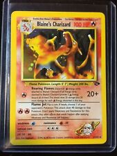 Pokemon Blaine's Charizard Perfect Mint Holo Never Played