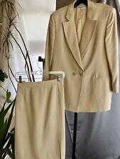 GIORGIO ARMANI Collezioni Champagne Skirt Suit XL/16