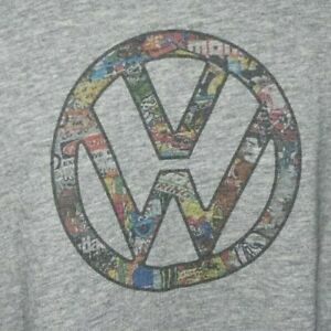 Mens Retro VW logo T-shirt XL volkswagon campervan beetle golf polo collecter