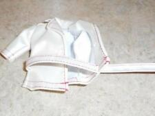 White Faux Leather Jacket w/Belt for Tiny Kitty Doll