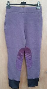 NEW **HARRY HALL **PLUM BEEFORD COMFY BREECHES LADIES SIZE 12/28R RIDING TIGHTS