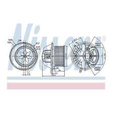 Fits Mercedes A-Class W169 A 200 CDI Nissens Interior Heater Blower Motor Fan