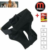 Mikki Dog Hygiene Pants Bitch Season Heat all 5 sizes Add Mikki Disposable Pads