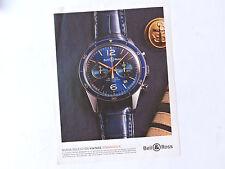 Publicidad BELL & ROSS Vintage Aeronavale / Advert Reklame Watch Uhr Spanish Ad