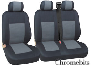 FOR FIAT DUCATO SCUDO IVECO DAILY SEAT COVERS GREY BLACK FABRIC 2+1 NEW