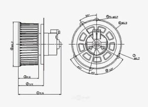 HVAC Blower Motor Front Global 2311514