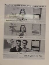 Original Vintage Advert ready to framed RCA Victor Television