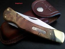 Schrade Old Timer Golden Bear 60TW + Pouch Hunting Outdoor Folding Pocket knife
