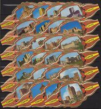 Vitolas. Serie Tabacos Capote - Castillos de España, 24 vitolinas. Cigar Bands.