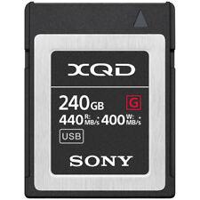 Brand New Unused Sony G Series 240GB XQD Memory Card Nikon D5 D4 D4S D500 Z6 Z7