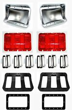NEW 1967 Ford Mustang Tail Light Bezel kit Full Set of 6 Lenses Gaskets Housings