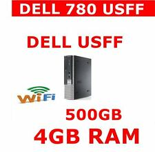 DELL 780 USFF COMPUTER PC 4GB RAM WIFI 500GB WINDOWS WIRELESS READY