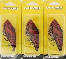 (3) Booyah Bait Company 3/4 Oz One Knocker Ghost Red Craw BYHKK3409