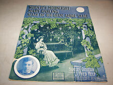When It's Moonlight Mary Darling 'Neath The Old Grape Arbor Shade 1907 Music