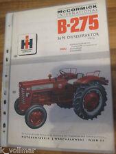 ✪✪✪Prospekt INFO/HEFT Baumaschinen International Harvester Mc Cormick B-275