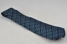 NWT $180 BLACK WITH BLUE DIAMOND PATTERN PIOMBO NECK TIE