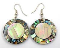 Handmade Paua Abalone Shell Mother of Pearl Dangle Drop earrings Jewelry AA244