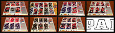 Lot of 7 Regional Panini Sticker Promo Sheets 2013-14 Hockey NHL Stadium Series