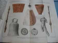 CHARMA RAPPORT FOUILLES VILLAGE DE VIEUX CAEN 1855 EO Illustré Couleurs CALVADOS