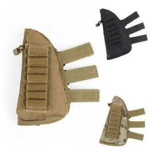 1pcs Tactical Buttstock Shotgun Rifle Shell Holder Cheek Rest Pouch Ammo Holder