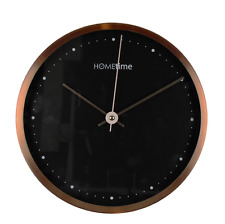 Modern Aluminium Copper Hometime Wall Clock - Small
