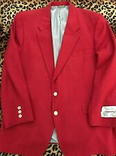 New Carlo Pucci Courture Wool  Jacket 46 R Red