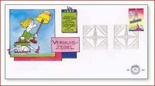 HOL9701FDC Caricature - moving FDC