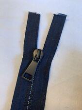 Navy 48cm Open Ended Designer Zip