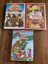 Jim Henson Disney Kids Christmas DVD Lot Of 3 Emmet Otter's Muppets Santa Goofy