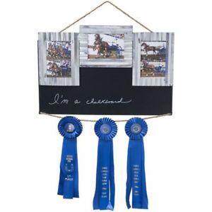 New  Tough-1 Chalk/Ribbon Holder/Stall/3 Picture Frame Stall Sign Horse Decor NR