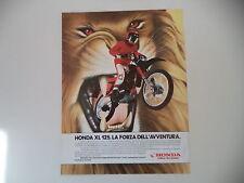 advertising Pubblicità 1985 MOTO HONDA XL 125 R