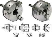 22802 GG-Tools Dreibackenfutter 50mm aus Stahl Schaft 8mm für Boley