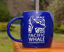 Whale Tail Blue Laser Etched Coffee Mug Maui Pacific Whale Foundation