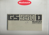 Suzuki GS550D-B (1977 >>) Genuine Owners Riders Manual Handbook GS 550 D DD99