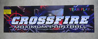 "CROSSFIRE TEAM PLAY   ORIGINAL 26 1/2 - 8"" arcade video game sign marquee  cF42"