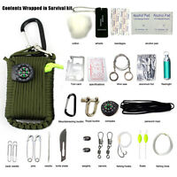 29 in 1 New SOS Survival Outdoor EDC Paracord Survival Kit Emergency EDC Gear